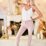 pantalon style jogging rose