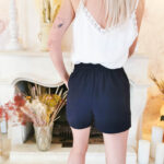 Short Navy Bleu